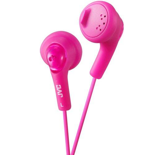 JVC Gumy - Auriculares in-ear para el iPod, iPhone, MP3 y smartphone (imán de neodimio, cable de 1 m, 15 Hz - 20 KHz), color rosa