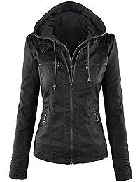 Veste en cuir noir femme ebay