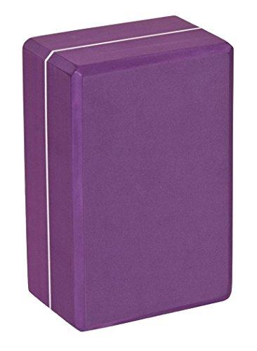 Brique/Bloc de yoga high density - taille XXL, 23 x 15 x 10 cm, testés pour les substances nocives - recyclable - matériau lavable: mousse EVA (éthylène-acétate de vinyle), aubergine