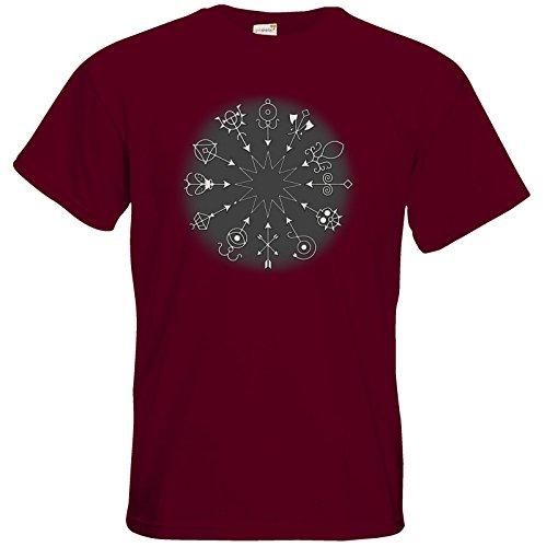 getshirts - Das Schwarze Auge - T-Shirt - Götter und Dämonen - Dämonenkreis Burgundy