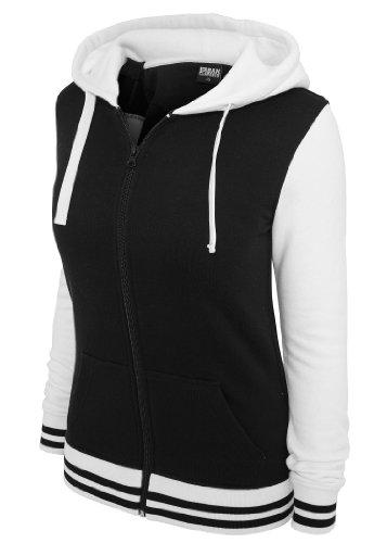 Urban Classics Damen Kapuzenpullover Black/White