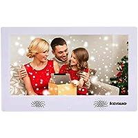 """Cornice Digitale 10.1 Pollici, Elettronica Foto Cornice Schermo LED IPS 16:9 per Musica/MP3/ MP4/Video/Calendario/Sveglia Regalo di Natale con Telecomando(10.1"""",Bianco)"""