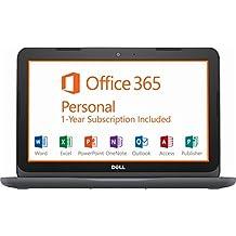 "Dell Inspiron Premium 11.6"" HD Laptop, AMD Dual-Core A6 Processor, 4GB DDR4, 32GB SSD, AMD Radeon R4, MaxxAudio, Bluetooth, WiFi, HDMI, USB 3.0, Webcam, With 1 Year Office 365, Win 10, Only 2.93 Lbs"