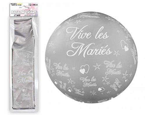 ballon-geant-mariage-tocadis-argent