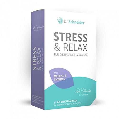 Dr. Schneider Stress&Relax - Vitamin C, B2, B6, B12, Niacin, Eisen, Pantothensäure - Ginseng, Melisse, Thymian - +Energie, Müdigkeit & +Immunsystem - bekannt aus dem TV - hergestellt in Deutschland -