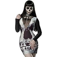 Amazon.it  costume da Teschio - Donna   Adulti   Costumi  Giochi e ... 601a385e9637