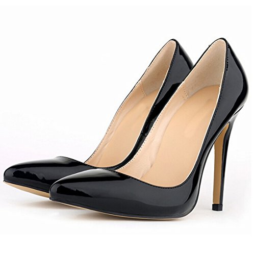 Azbro Sweet Solid Closed Toe Pointed Slender Pumps Stiletto High Heels Yellow
