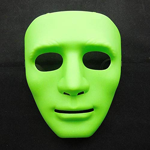 HEOWE Halloween Masquerade Dress Up Maske B-Boy Hip-Hop Tanz Requisiten Ball Party Kostüm Masken Cosplay Scary Solid Vollgesichts Für Erwachsene @ grün (Ball Boy Kostüm)