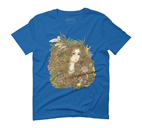 Forest Beauty Men's Graphic T-Shirt - Design By Humans Royal Blue