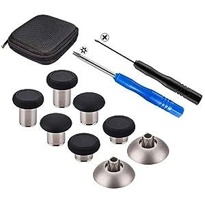 inRobert 8-1 Metall Magnetic Thumbsticks Analoge Sticks Joysticks Ersatz-Reparatursatz mit offenem Werkzeug für PS4…