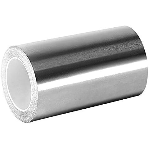 TapeCase 5-3-3361 in argento, ad alta temperatura in acciaio INOX/acrilico-Nastro di foglio in alluminio, yd. 12,70 (5 cm x 3 m, spessore: 0,01 (0,0038 cm, lunghezza (3 7,62 cm, larghezza 12,70 (5 cm