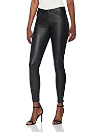 VERO MODA Damen Hose Vmseven Nw Ss Smooth Coated Pants Noos