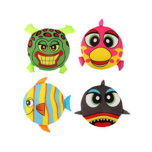 Toyvian 4 Stück Animal Print Tuch Flying Disks (zufälliger Stil)