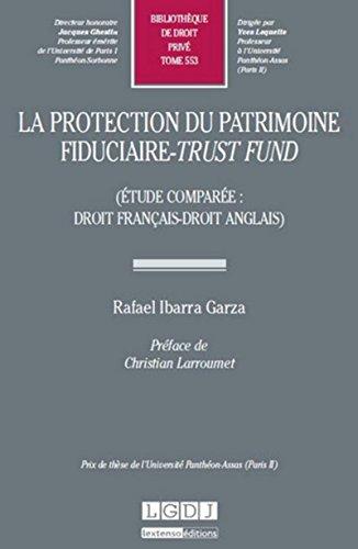 La Protection du patrimoine fiduciaire - trust fund (étude comparée : droit français - droit anglais