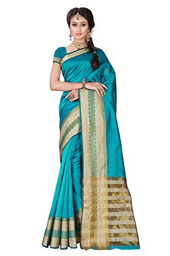 Viva n Diva Sarees for Women's Blue Colored Banarasi Silk sarees for women latest design