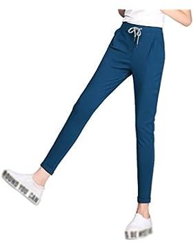 YiLianDa Pantalones Largos Mujer Pantalòn Slim Elegantes Oficina Cintura Elástica