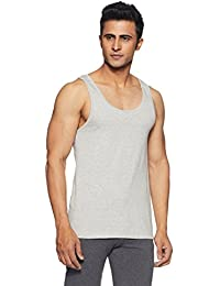 United Colors of Benetton Men's Cotton Vest (LM71I_Small_Grey)-901