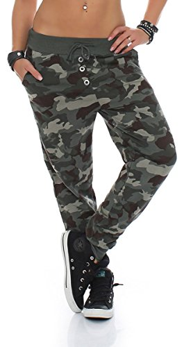 malito Sweatpants im Camouflage-Conceive Baggy 8019 Damen One Size (oliv)