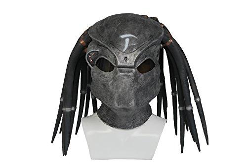 dator Maske Grau Latex Voll Kopf Helm Spiel Cosplay Kostüm Replik Erwachsene Verrücktes Kleid Kleidung Zubehör ()