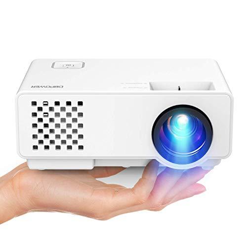 "DBPOWER Mini Beamer, 2000 Lumen HD 1080P LED Video Projektor mit 176"" Display, 50.000 Lebensdauer, Heimkino Projektor Kompatibel mit Amazon Fire TV Stick, HDMI/VGA/AV/USB"