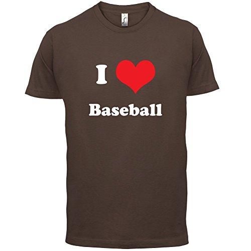 I Love Baseball - Herren T-Shirt - 13 Farben Schokobraun