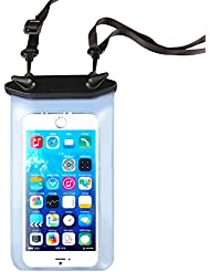 Waterproof Case bag for iPhone 6 Plus 6 5S 5C 5, Samsung Galaxy S6 and S6 Edge S5 S4 waterproof ultra pouch protective case (fit for devices less than 5.5'), IPX8 Certified to 100 Feet, HandAcc Universal Black