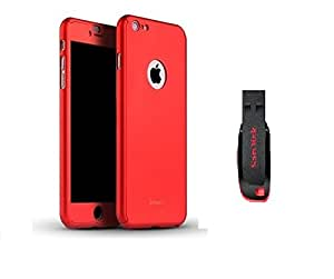 D'clair Premium Ipaky All - round Protective slim fit Back case cover with 32 GB Pendrive for Apple iphone 6 - Red