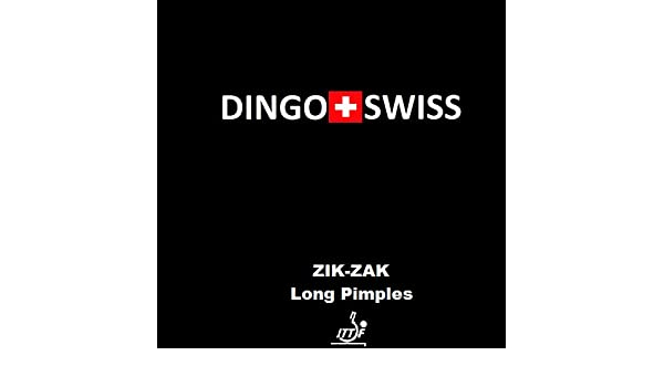 Langnoppe schwarz 1,0 mm DINGO SWISS Belag Zik Zak