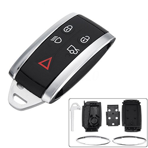 Automobile Locksmith Smart Keyless Entry Remote Fob Case Shell Replacement  with Blank Blade for Jaguar X S-Type XF XK XKR key