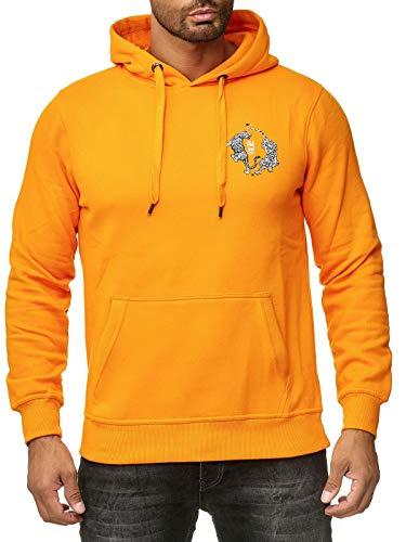 Rusty Neal Sweatshirt Hoody Sweater Backprint Tiger Motiv A1-RN-19100, Größe:M, Farbe:Orange