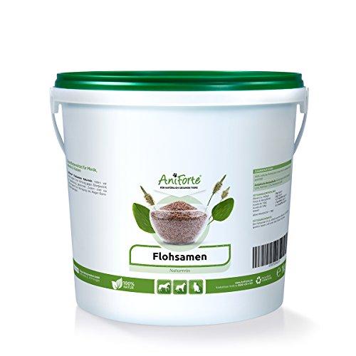 AniForte Flohsamen Ganz 1 kg für Pferde, Hunde und Katzen, Reich an Ballaststoffen und Schleimstoffen, Indische Rohkost Qualität