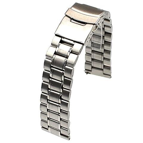 fiimi 22mm Bracelet de Montre en Acier Inoxydable pour moto 3602nd Gen, Hommes de 46mm, livré avec fermoirs