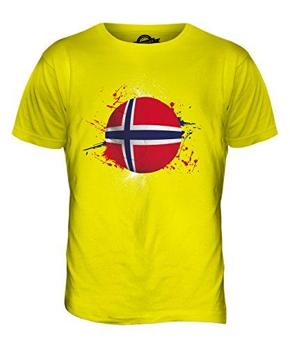 CandyMix Norwegen Fußball Herren T Shirt Zitronengelb