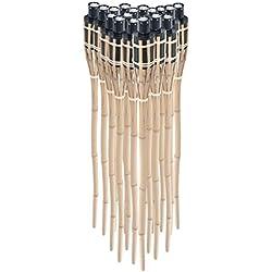Pre & mium 18Antorchas de cera de bambú antorcha de jardín 90cm