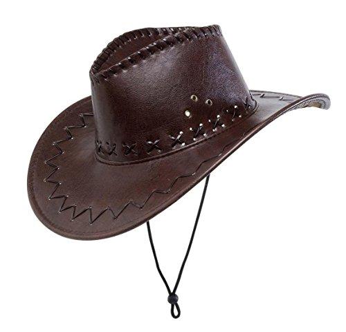 WIDMANN Cappello da Cowboy, Marrone