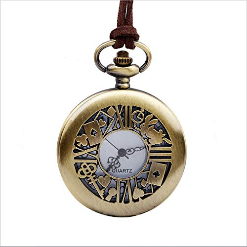 Mddrr studente regalo alice con orologio da tasca pocket openwork poker coniglio pocket