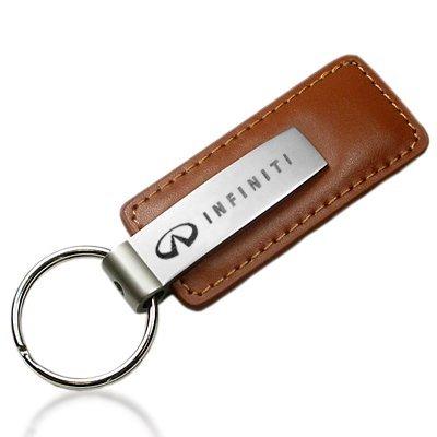Infiniti Logo braun Leder Schlüsselanhänger (Leder Brown Schlüsselanhänger Logo)