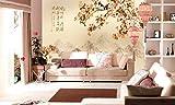 Minyose Murales foto 3D wallpaper Paesaggio pittura fiori e uccelli pittura carta da parati per soggiorno-200cmx140cm