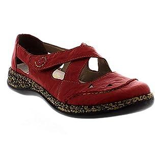 Rieker Womens Massa Crossover Velcro Shoes 46335-33 6.5 UK / 40 EU Red