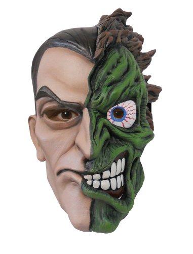 Deluxe Two Face Batman Mask Fancy Dress Batman Super Villian Halloween Costume Super-deluxe-halloween-maske