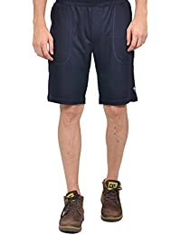 YOO Men's Cotton Solid Casual Regular Fit Short