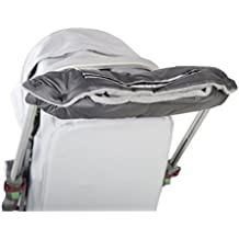 """Kutnik Manopla para cochecito de bebé """"POLAR"""" con vellón polar - Gris grafito con gris"""