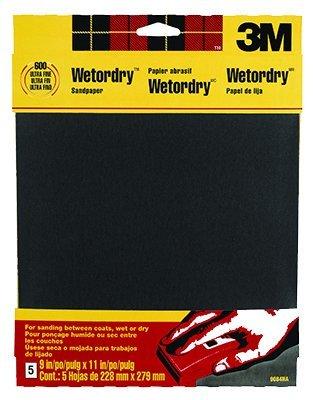 3M WETORDRY verschiedene Körnungen Schleifpapier, 230x 280mm–1Stück - Wetordry 3m Schleifpapier