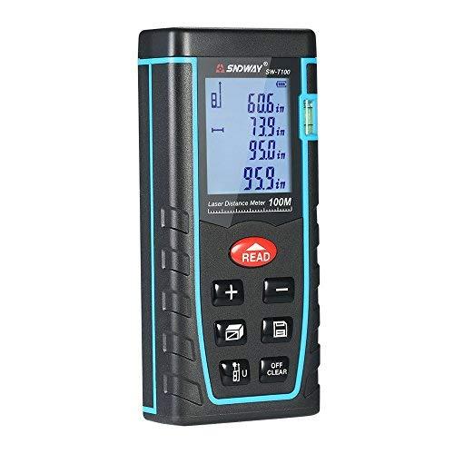 KKmoon 100 m Mini Handheld LCD Digital Laser Entfernungsmesser Entfernungsmesser Entfernungsbereich Volumenmessung 30 Gruppen Datenspeicherung