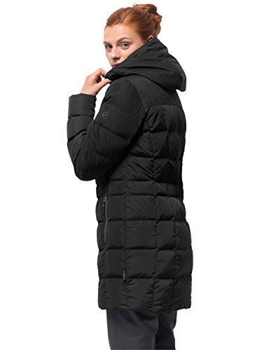Jack Wolfskin Damen Baffin Island Coat Daunenmantel Winddicht Atmungsaktiv Mantel, Black, L - 3