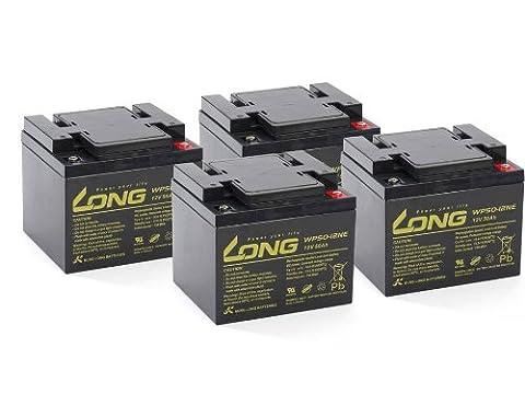 Akku Batterie Elektro Roller Scooter e-max 110S 4kW 4x 12V 50Ah wie 40Ah 36Ah Blei kompatibel