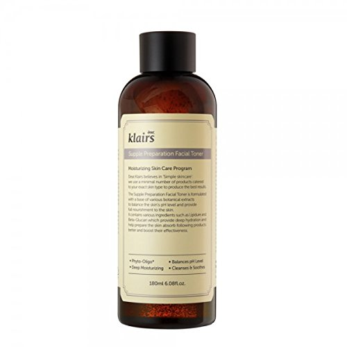 Klairs Supple Preparation Facial Toner 180ml, Alcohol Free, Paraben Free, No Cruelty, Eco-friendly by KLAIRS -
