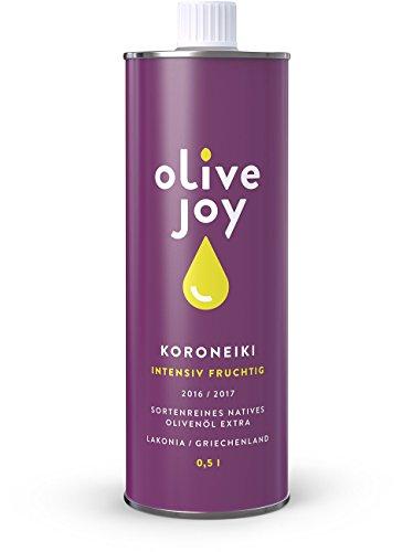 olive joy KORONEIKI sortenreines Natives Olivenöl Extra aus Griechenland, 500ml (Paleo Olivenöl)