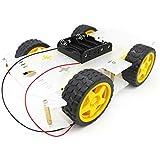 YIKESHU 4WD Smart Motor Robot chasis del coche kit de caja de batería codificador de velocidad para Arduino