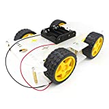 YIKESHU 4-Rad Roboter Smart Car Chassis Kits Auto Modell mit Speed Encoder für Arduino